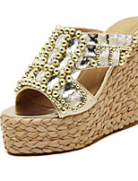 Women's Shoes Wedge Heel Wedges Slippers Outdoor/Dress Silver/Gold