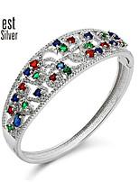 Sterling Silver Set Auger Diamond Bracelet S925 Silver Plated Platinum Silver Bracelet Luxurious Products Z011