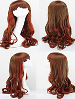 Fashion Ombre Wig Harajuku Red Gradient Curly Hair Costumes SynthecHairCosplay Lolita Wigs