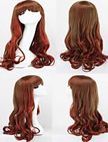 moda ombre parrucca Harajuku gradiente rosso parrucche ricci costumi capelli synthechaircosplay lolita