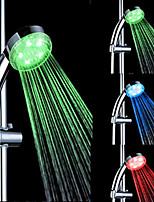 3-température de couleur abs détectable changement de couleur conduit douche à main
