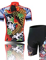 Carp Cycling Wear Short Sleeved Suit, Moisture Cycling Wear, Motor Function Material