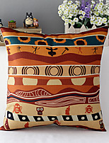 Africa Style de coton de culture humaine / lin taie d'oreiller décoratif