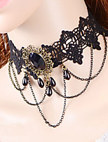 Vintage Gothic Tassels Chain Necklace
