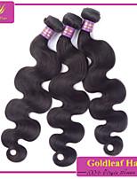 3pcs/lot Brazilian Virgin Hair natural black Body Wave