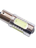 1156 Ba15S S25 P21W 7.5W 5LED COB 680LM 6500-7500K Car Auto Turning Lamp  Signal Bulb Fog Light White 12-24V