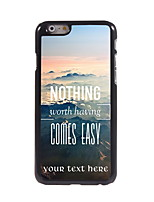 Personalized Gift Nothing Comes Easy Design Aluminum Hard Case for iPhone 6 Plus