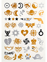 4PCS Flash Tattoo Gold Tattoo Metallic Tattoo Taty Tatouage Temporary Tattoo Sticker Metal Tatoo Fake Tatto 1PC