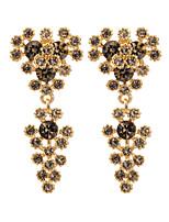 Women's Elegant Fashion Hollow Out Zircon Stud Earrings  HJ0013
