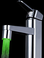 Green Brass Kitchen Sink LED Faucet Tap Nozzle
