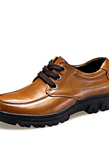 Men's Shoes Office & Career / Casual Leather Oxfords Brown