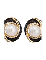 Boucle - en Alliage/Zircon/Imitation de perle - Vintage/Mignon/Soirée - Boucles d'oreille goujon