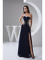 Formal Long Evening Dresses A-line One Shoulder Floor-length Chiffon Women Prom Dress