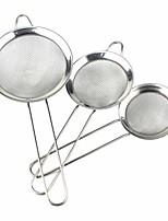 Kitchen Stainless Steel Net Barrier Spoon 3PCS