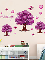 Wall Stickers Wall Decals Style Romantic Purple Tree PVC Wall Stickers