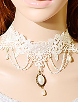 Vintage Gothic Chain Drip Pearl Necklace