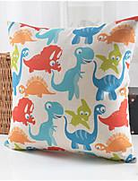 Modern Style Dinosaur Pattern Cotton/Linen Decorative Pillow Cover