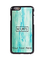 Personalized Gift No Limit Design Aluminum Hard Case for iPhone 6