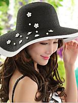 Women Vintage/Casual Summer Foldable Travelling Linen/Straw Floppy Sun Hat