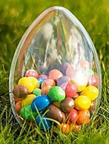 Clear Plastic Acrylic Fillable Egg Ornament 80mm *60cm- Pack of 5