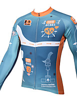 PaladinSport Men's Long Sleeve Cycling Jersey New Style CX387 Heartbeat 100% Polyester