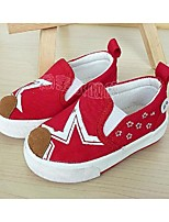 Baby Shoes Casual Fabric Loafers Black/Red