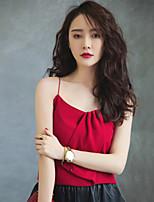 Women's Red Blouse Sleeveless