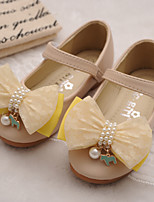 Girls' Shoes Casual Comfort Round Toe Leather Flats Shoes with Magic Tape