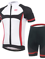 Men's Short Summer Cycling Suits Shorts/Bib Shorts Breathable/Moisture Permeability/Back Pocket/Reflective Strips