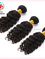 3 Pieces 7A Hot Sale Natural Colour Deep Wave Remy  Malaysian Hair Weave