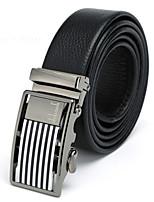 Hot Sale Men's Belt Luxury Full Grain Leather Belts High Quality Business Automatic Buckle Belts for Men