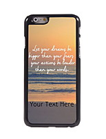 Personalized Gift Dream and Fear Design Aluminum Hard Case for iPhone 6