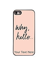 Personalized Gift Why Hello Design Aluminum Hard Case for iPhone 4/4S