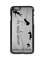 Personalized Gift Never Grow Up Design Aluminum Hard Case for iPhone 6
