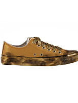 Zapatos de mujer - Tacón Plano - Comfort - Sneakers a la Moda / Zapatos de Deporte - Exterior / Casual / Deporte - Tela - Oro