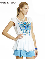 Women's Casual/Plus Sizes Micro-elastic Sleeveless Long Blouse (Polyester/Cotton Blends)Luvingtwo