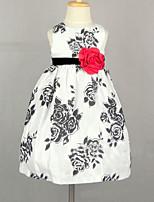 Flower Girl šaty - Satén/Tyl/Semišování Bez rukávů - Princesové Délka po kolena