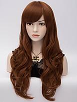 parrucca grande marrone di nylon capelli ondulati vento europeo ed americano