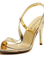 Chaussures Femme-Mariage / Habillé / Soirée & Evénement-Argent / Or-Talon Aiguille-Talons / Bride de Cheville-Sandales-Matières