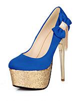 Women's Shoes Rubber Stiletto Heel Heels Pumps/Heels Outdoor/Casual Black/Blue/Green/Red