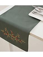 Table broderie décoration chemin de table de couleur olive chemin de table