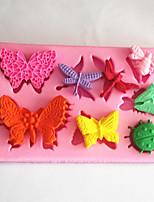 utensilios para hornear mariposa libélula molde fondant decoración de la torta del molde