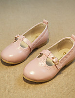 Girls' Shoes Dress/Casual Comfort/Round Toe/Closed Toe Faux Leather Flats Blue/Pink
