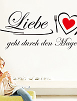 Wall Stickers Wall Decals , German Words & Quotes Kitchen Stickers