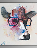 Oil Painting Modern Abstract Cow Hand Painted Canvas with Stretched Frame