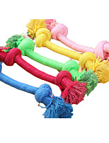 Pet Dog Twisted Rope Toys with Solid Color Interactive Toys for Dogs and Cats  (Assorted Sizes)