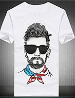 Men's Casual Cartoon Characters Printed T-Shirt