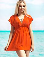 De las mujeres Bikini - Color Único Sujetador Acolchado - Halter - Algodón Orgánico/Seda Sintética