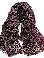 Women's Fashion 100% Wool Leopard Printed Scarf