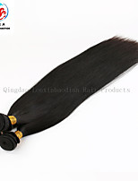 tre bunter naturlige farge rett høy kvalitet engros-pris 100% indisk remy menneskehår veve
